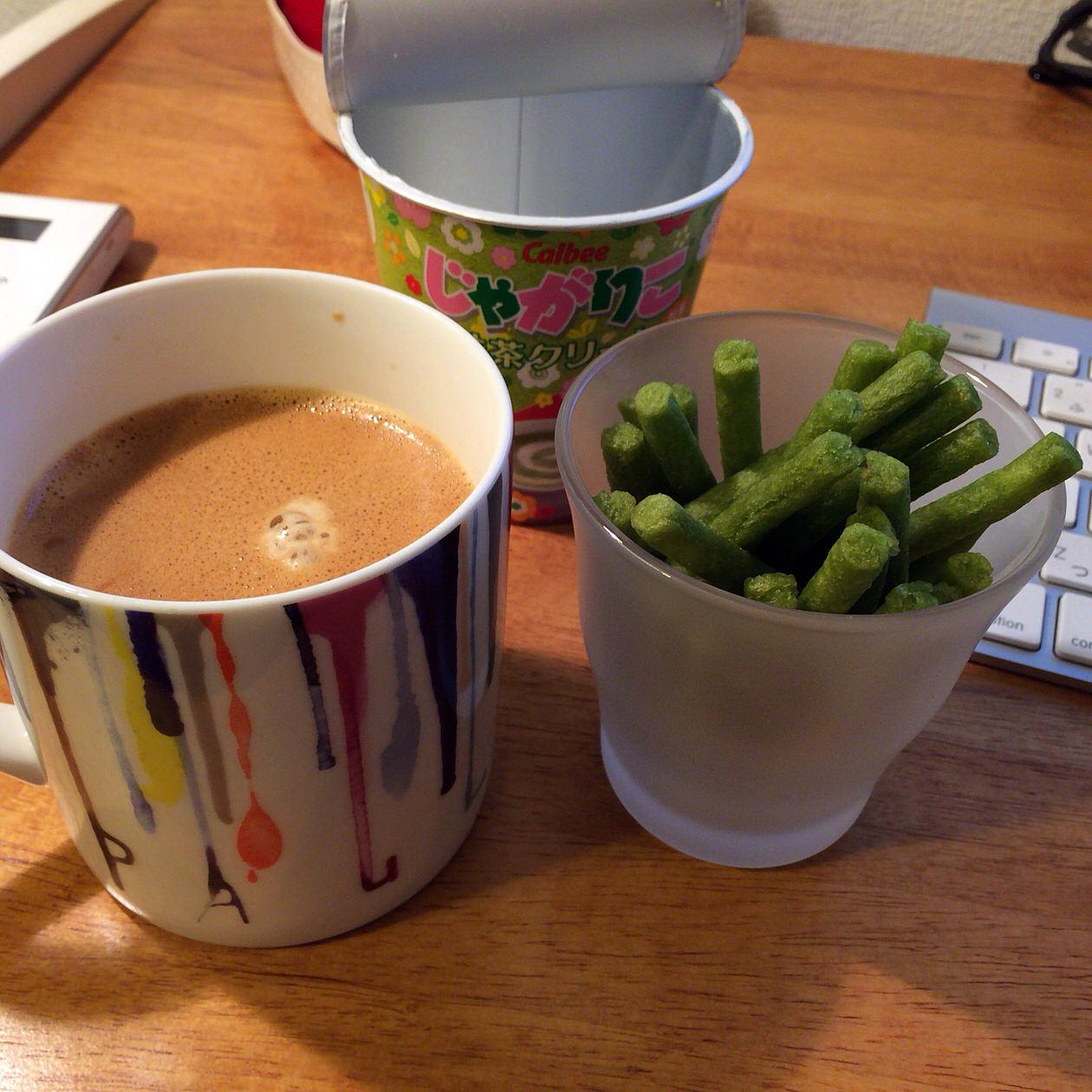 コーヒーと抹茶クリーム味