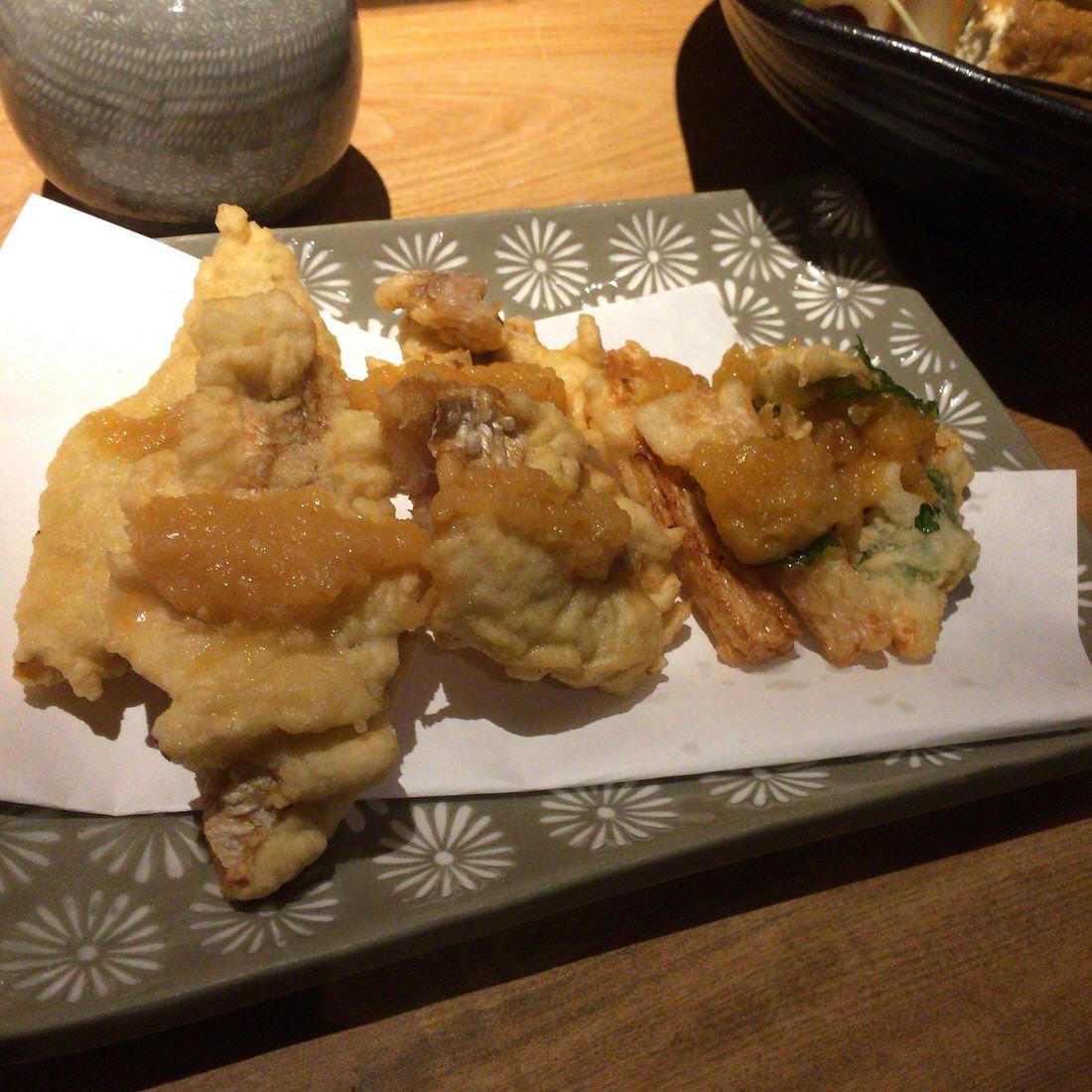 和さび-白身魚の天ぷら
