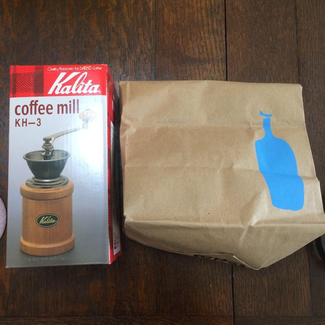 カリタのコーヒーミルを購入してブルーボトルコーヒーの豆を挽いてみました