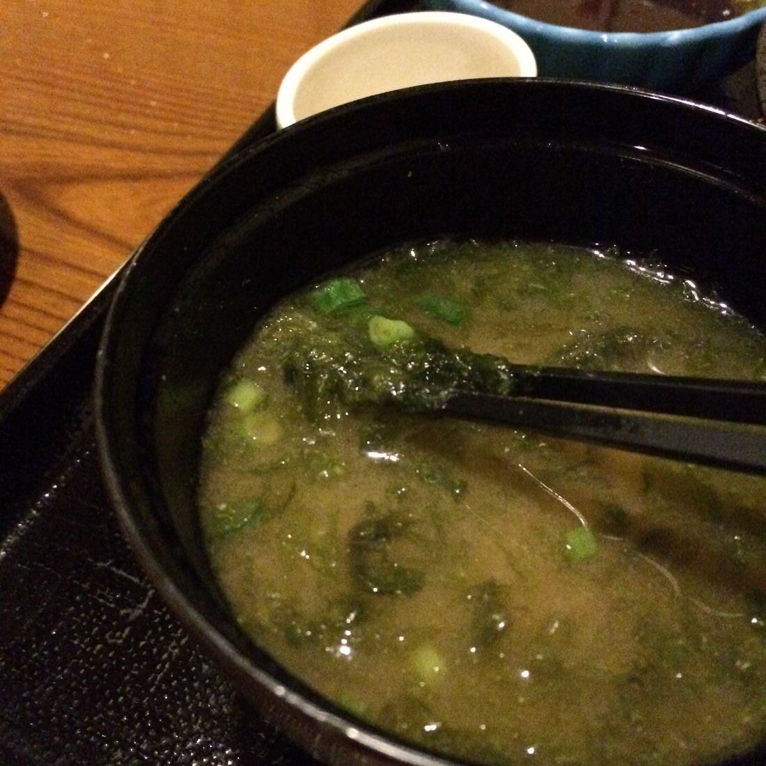 北斎-あおさ味噌汁