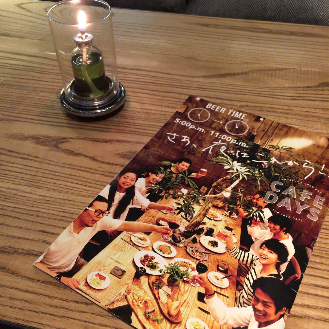 cafe-days-メニュー-キャンドル