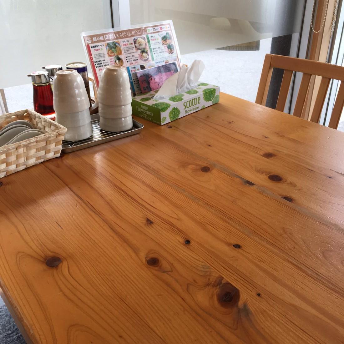 ぼだい-テーブル席
